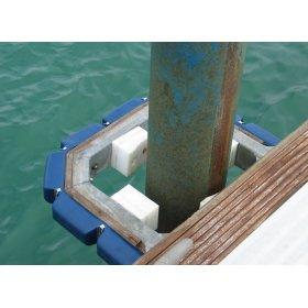 Flexibel stootkussen systeem voor pontonsteiger